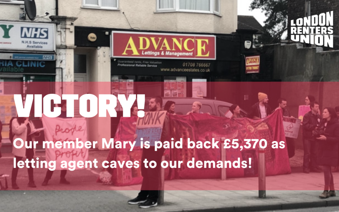 Sustained collective action pays off big time for Mary!