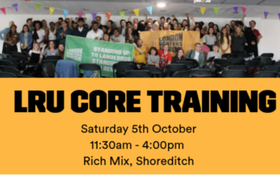 LRU Core Training – October 5th