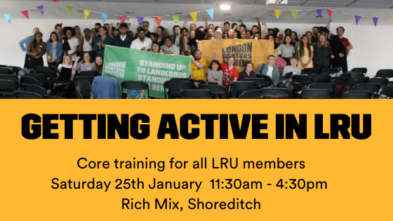 Get Active in the LRU – January 25th
