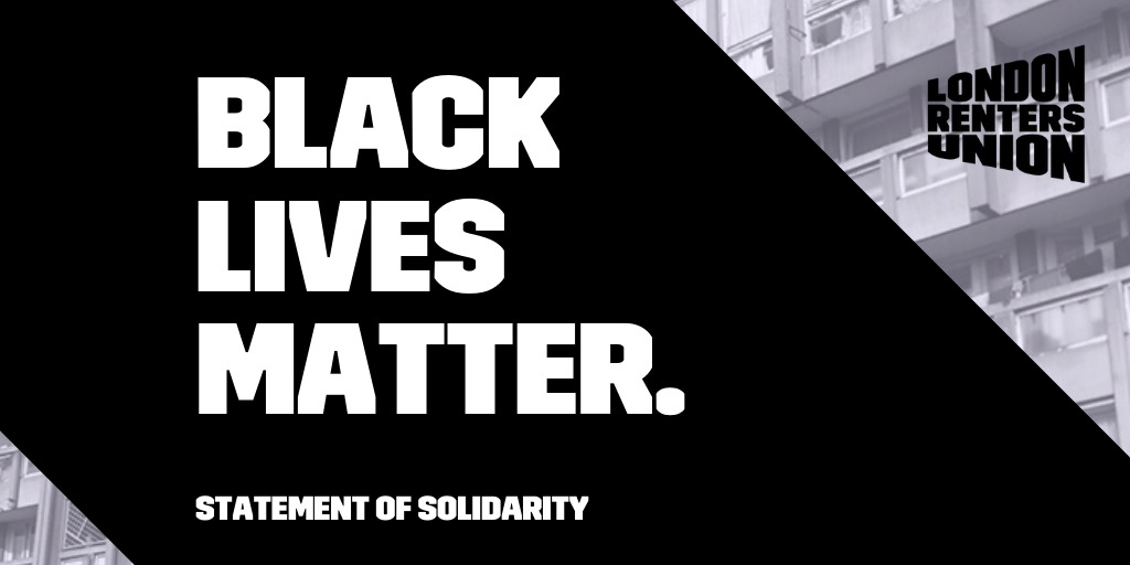 In solidarity with Black Lives Matter protests