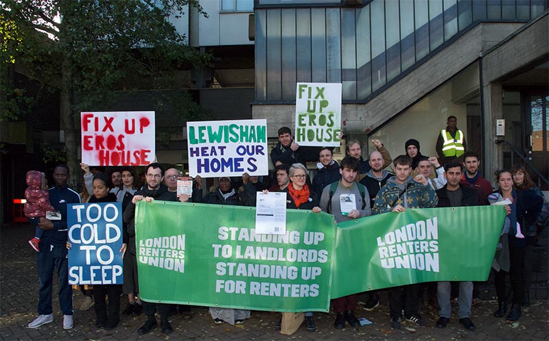 Lewisham tower block residents protest to demand urgent safety repairs