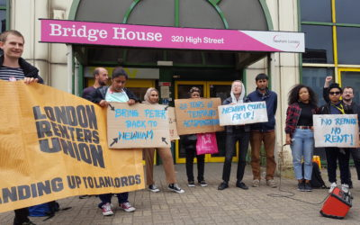 Temporary accommodation renters take action for justice
